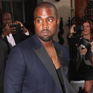 Kanye West - Celebrities Departing Claridge's Hotel