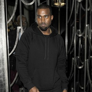 Kanye West in Kanye West Leaves Claridge's Where He Had Been Attending Meetings All Evening