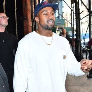 Kanye West Leaving A Hotel