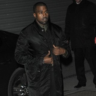 Kanye West - Paris Fashion Week Autumn-Winter 2014 - Givenchy - Outside Arrivals