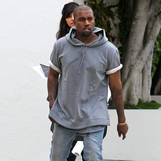 Kanye West in Kanye West Seen Shopping for Furniture