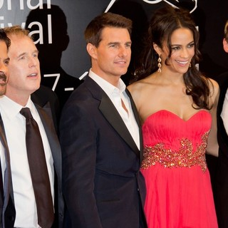 Anil Kapoor, Brad Bird, Tom Cruise, Paula Patton, Simon Pegg in 2011 Dubai International Film Festival - Mission: Impossible Ghost Protocol - Red Carpet