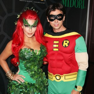 Kim Kardashian, Jonathan Cheban in Kim Kardashian Hosts The Midori Melon Green Halloween Party