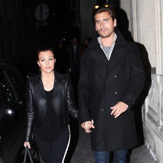 Kourtney Kardashian, Scott Disick in Kourtney Kardashian and Scott Disick Shopping in The Most Luxurious Areas of Paris