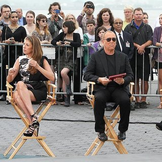 Kim Kardashian, Nina Garcia, Michael Kors, Heidi Klum in Shooting on Location for Project Runway