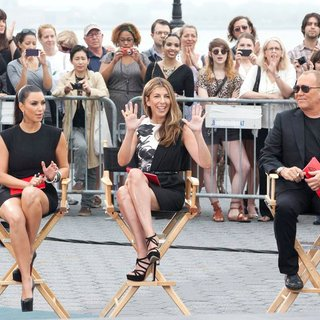 Kim Kardashian, Nina Garcia, Michael Kors in Shooting on Location for Project Runway