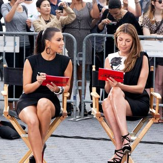 Kim Kardashian, Nina Garcia in Shooting on Location for Project Runway