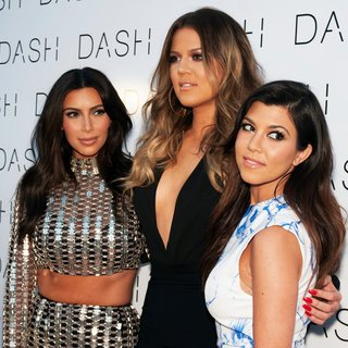Kim Kardashian, Khloe Kardashian, Kourtney Kardashian in The Grand Opening of DASH Miami Beach