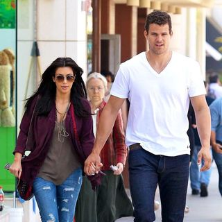 Kim Kardashian, Kris Humphries in Kim Kardashian and Kris Humphries Walking Together