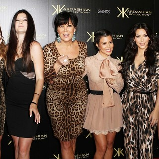 Khloe Kardashian, Kylie Jenner, Kris Jenner, Kourtney Kardashian, Kim Kardashian, Kendall Jenner in Kardashian Kollection Launch Party
