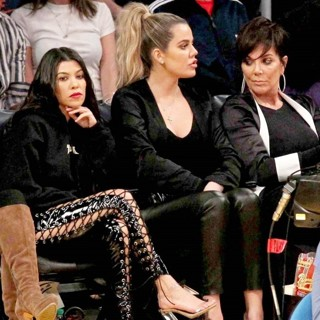 Kourtney Kardashian, Khloe Kardashian, Kris Jenner-The Los Angeles Lakers Defeated 120-125 by The Cleveland Cavaliers