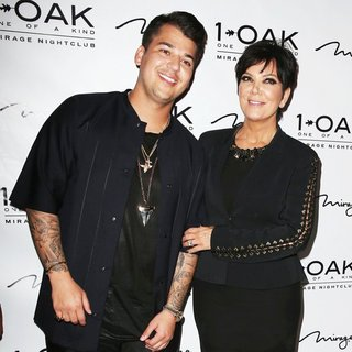 Rob Kardashian, Kris Jenner in Rob Kardashian's 26th Birthday