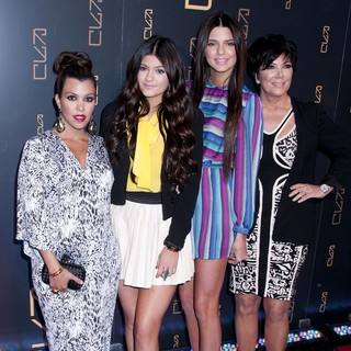 Kourtney Kardashian, Kylie Jenner, Kendall Jenner, Kris Jenner in The RYU Restaurant Grand Opening