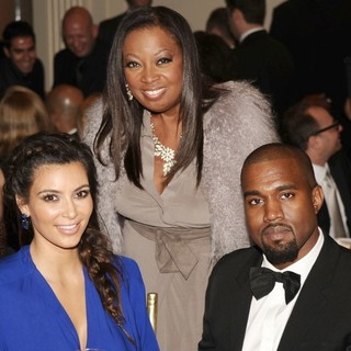 Kim Kardashian, Star Jones, Kanye West in The Angel Ball 2012
