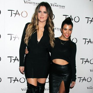 Khloe Kardashian, Kourtney Kardashian in Kim Kardashian Celebrates Her 33rd Birthday