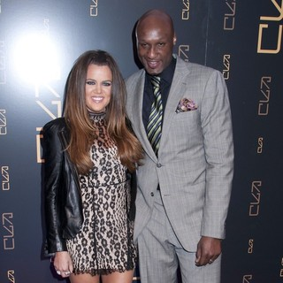 Khloe Kardashian, Lamar Odom in The RYU Restaurant Grand Opening