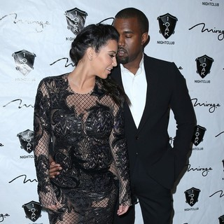Kim Kardashian, Kanye West in 1 Oak Nightclub New Year's Eve Party