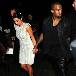 Kim Kardashian, Kanye West in Kim Kardashian and Kanye West Arrive at Zuma Restaurant