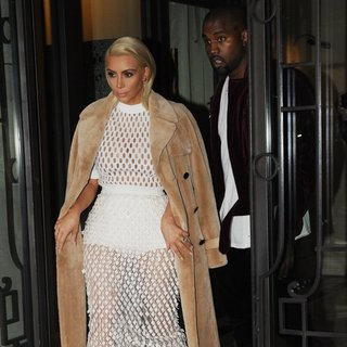 Kanye West - Kim Kardashian and Kanye West Heading for The Balenciaga Fashion Show
