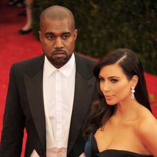 Kanye West, Kim Kardashian in Charles James: Beyond Fashion Costume Institute Gala - Arrivals