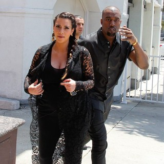Kim Kardashian, Kanye West in Kim Kardashian and Kanye West Are Seen House Hunting in Beverly Hills
