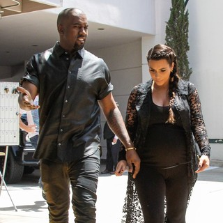 Kanye West, Kim Kardashian in Kim Kardashian and Kanye West Are Seen House Hunting in Beverly Hills