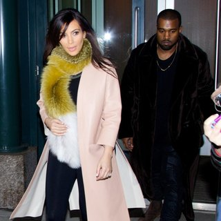 Kim Kardashian, Kanye West in Kim Kardashian and Kanye West Seen in Soho