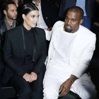 Kim Kardashian, Kanye West in Paris Fashion Week - Autumn-Winter 2013 - Givenchy - Front Row
