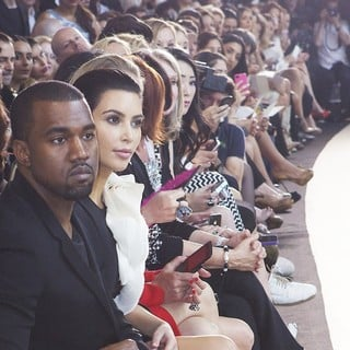Kanye West, Kim Kardashian in Paris Fashion Week Fall-Winter 2013 - Stephane Rolland - Inside