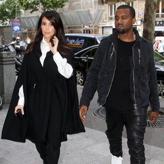 Kim Kardashian, Kanye West in Kim Kardashian and Kanye West Shopping at Balmain