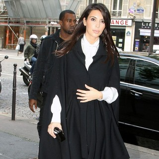 Kanye West, Kim Kardashian in Kim Kardashian and Kanye West Shopping at Balmain