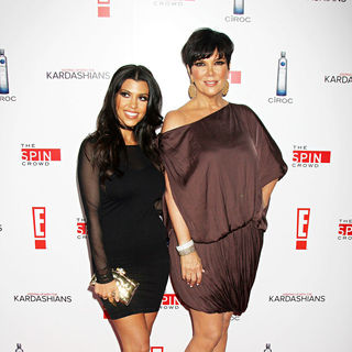 "Kourtney Kardashian, Kris Jenner in The ""Keeping Up with the Kardashians"" Season 5 Premiere Party"