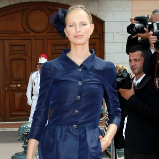 Karolina Kurkova in Religious Ceremony of The Royal Wedding of Prince Albert II of Monaco to Charlene Wittstock