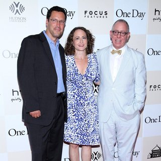 Andrew Karpen, Nina Jacobson, James Schamus in New York Premiere of One Day
