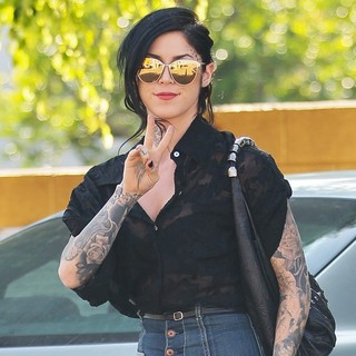 Kat Von D in Kat Von D Running Errands in West Hollywood