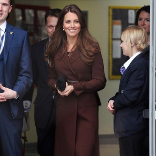 Kate Middleton in Kate Middleton Arriving at Humberside Fire and Rescue Service