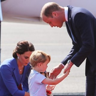 Kate Middleton, Prince of Cambridge, Prince William-The Duke and Duchess of Cambridge Arrive at Berlin Tegel Airport
