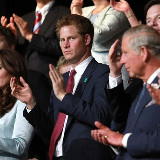 Kate Middleton, Prince Harry, Prince Charles in The Opening Ceremony of The London 2012 Olympic Games