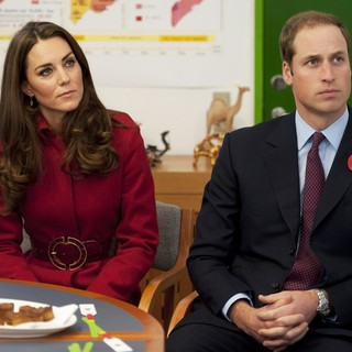 Kate Middleton, Prince William in Kate Middleton and Prince William at The UNICEF Emergency Supply Centre