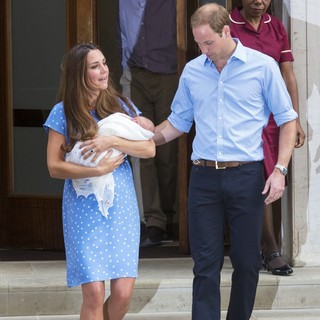 Kate Middleton, Prince William in Prince William and Kate Middleton Left Hospital with Their New Bundle of Joy
