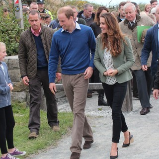 Prince William, Kate Middleton in The Ring O'Fire Anglesey Coastal Ultra Marathon