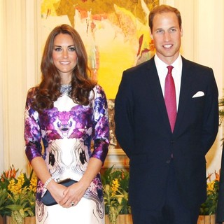 Kate Middleton, Prince William in A State Dinner Hosted by The President of Singapore
