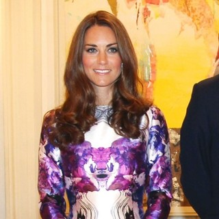 Kate Middleton in A State Dinner Hosted by The President of Singapore