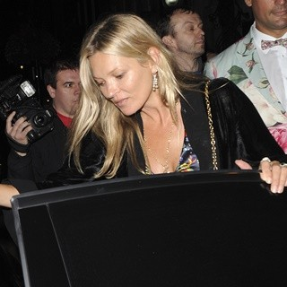 Kate Moss in Kate Moss Leaves Annabel's Private Members Club
