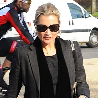 Kate Moss Seen Out with Friends in North London