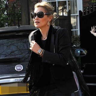 Kate Moss in Kate Moss Seen Out with Friends in North London