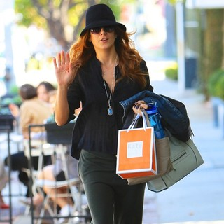 Kate Walsh in Kate Walsh Seen Leaving Kate Summerville Skin Clinic