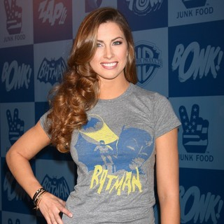 Katherine Webb in Warner Bros. Consumer Products and Junk Food Clothing Launch 1960's Batman Classic TV Series Product