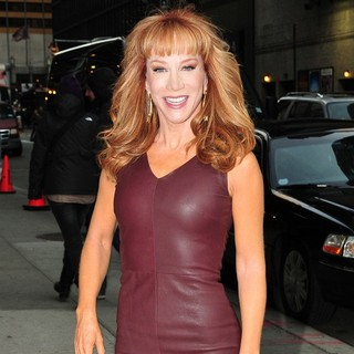 Kathy Griffin in The Late Show with David Letterman - Arrivals
