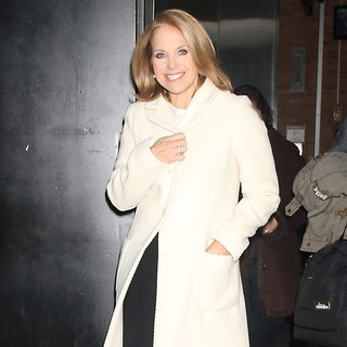 Katie Couric in Katie Couric Arrives at ABC Studios for Good Morning America